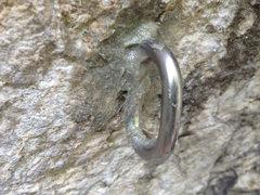 Rock Climbing Photo: New 1st bolt on Plastic Prince, a glue-in WaveBolt...
