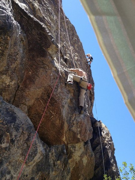 Rock Climbing Photo: 5.10c/d Midway crux