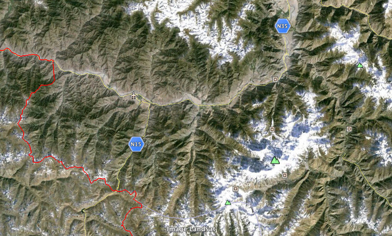 Map of the area around Nanga Parbat.