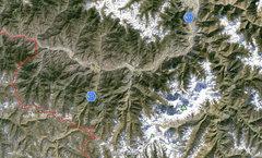 Rock Climbing Photo: Map of the area around Nanga Parbat.