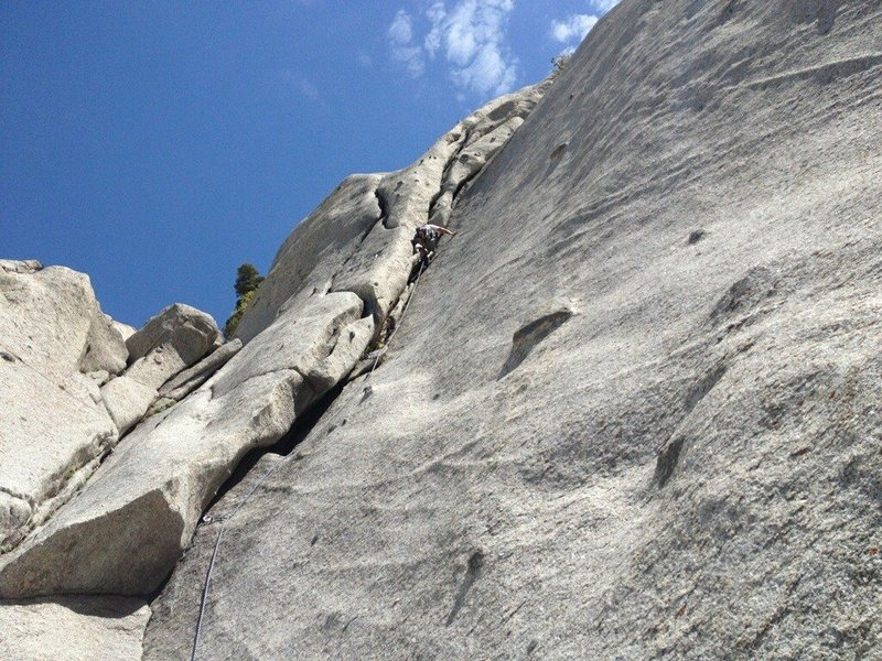 Rock Climbing Photo: Little Cottonwood Canyon - Hatchet Crack