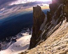 Rock Climbing Photo: Looking left from the HW towards Vitaliy's variati...