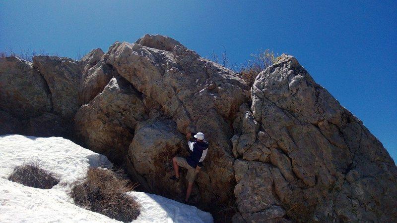 Rock Climbing Photo: Alex Gavic giving the 1% Boulder - Transfer Funds ...