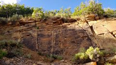Rock Climbing Photo: Spanning Time (V0-V1) mentioned here. Some other v...