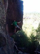 Rock Climbing Photo: opening move to liken it