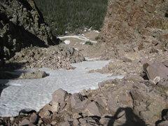 Rock Climbing Photo: Looking down the actual Stairway to Hayden. Easy b...