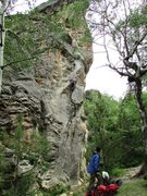 Rock Climbing Photo: Ralph completing City Girls.