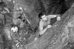 "Rock Climbing Photo: matty on the ""jugs"" toward the top"