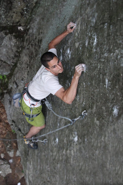 Rock Climbing Photo: Keith clinging...