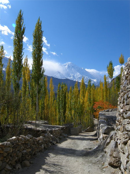 The road to my house - this was the official path of the ancient silk route