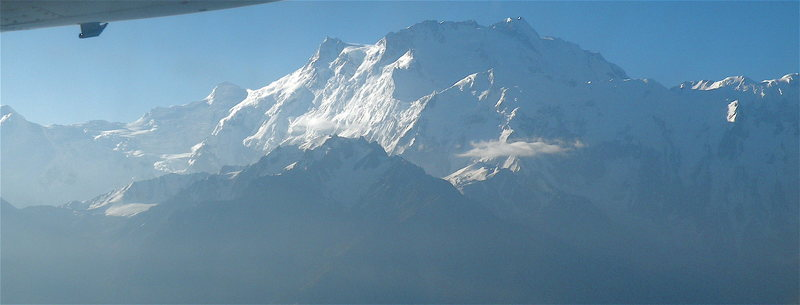 Flying by Nanga Parbat on the flight from Islamabad to Gilgit - by doing so you avoid all the trouble spots