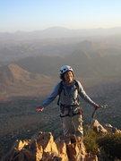 Rock Climbing Photo: Summit! Tete de Leon, Tafraoute, Maroc