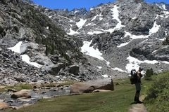 Rock Climbing Photo: Sam Mack meadow, we went up the left snow field to...