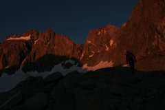 Rock Climbing Photo: Approaching underhill across the glacier at 530 am...