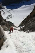 Rock Climbing Photo: Working our way up underhill, great snow for our s...
