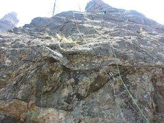 Rock Climbing Photo: Third pitch.