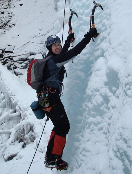 Rock Climbing Photo: One of my early ice climbing days.  That huge grin...