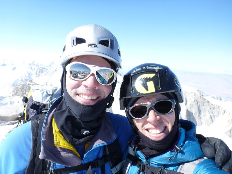 Best. Birthday. Ever.  With my guide on top of Mt. Whitney on my 50th birthday.