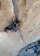 Rock Climbing Photo: D leads Bird of Fire.