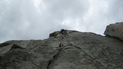 Rock Climbing Photo: Enjoying the crack