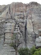 Rock Climbing Photo: Carol's (Twin) Cracks to the left, Adult Homosapie...