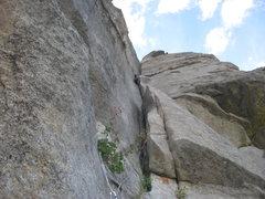 Rock Climbing Photo: Nice chimney climbing