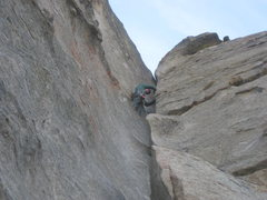 Rock Climbing Photo: Kb on the Trumble
