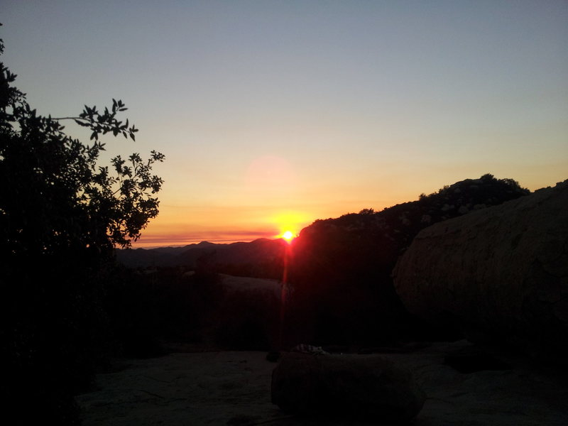 Sunset from Daley Ranch