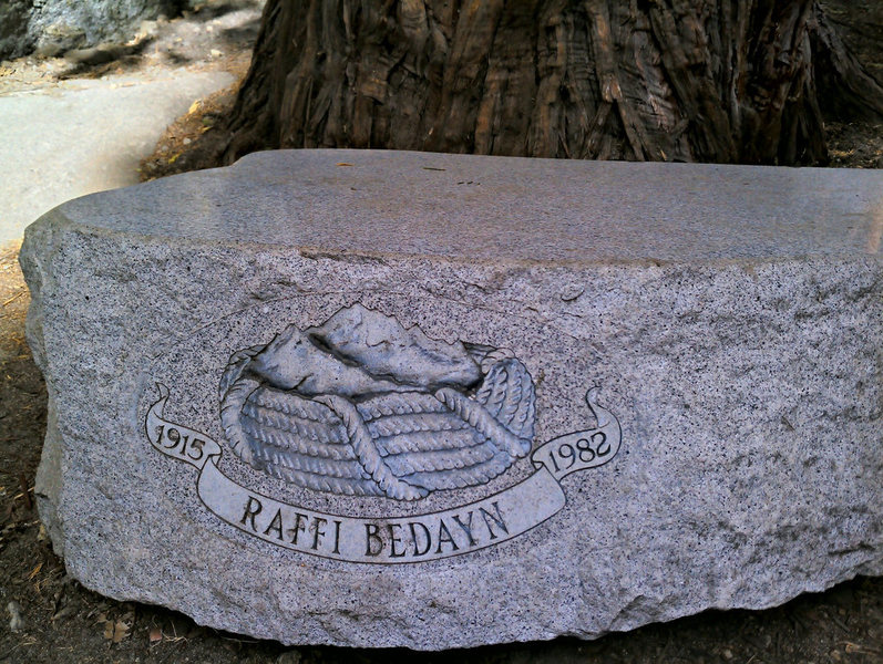 Camp 4<br> Raffi Bedayn Memorial rock