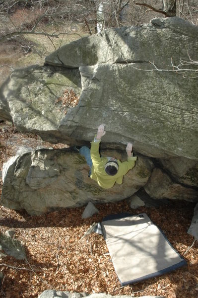 Rock Climbing Photo: The Green Marble V4