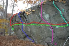 Rock Climbing Photo: Haley Boulder, Left Side