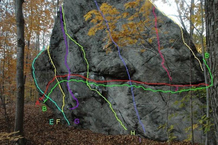 Rock Climbing Photo: Haley Boulder, Right Side