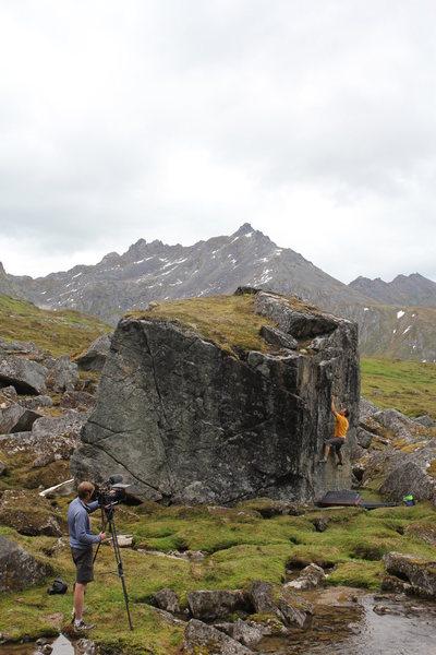Rock Climbing Photo: Todd Helgeson on Captain Kaboom.