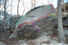 Rock Climbing Photo: Route Map