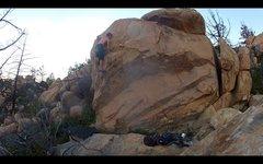 Rock Climbing Photo: Riding the Escalator