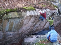 Rock Climbing Photo: Chris topping out Phil's Crack