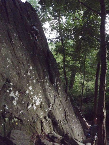 Rock Climbing Photo: Near the top.