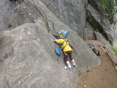 Rock Climbing Photo: Any boulder will do for the littlest ones.