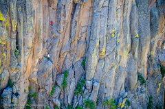 Rock Climbing Photo: Casey Niggemeyer belays Joel Unema on Iron Sharpen...