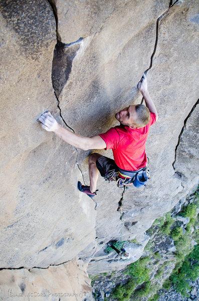 Rock Climbing Photo: Joel Unema on the FA of Iron Sharpens Iron photo B...