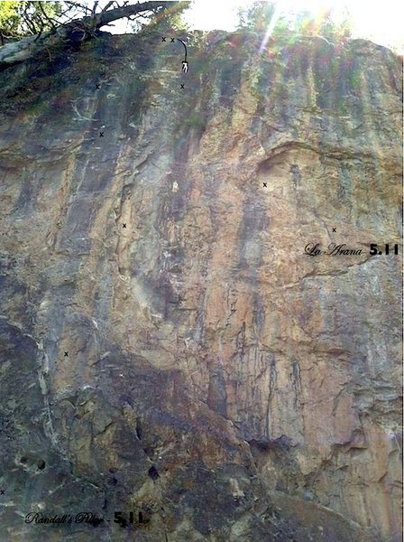 Rock Climbing Photo: Randall's Pillar showing the upper 2/3rds of La Ar...