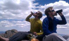 Rock Climbing Photo: Crestone Peak libations