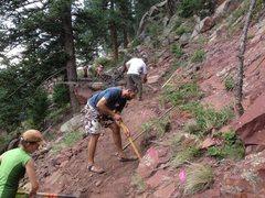 Rock Climbing Photo: During.