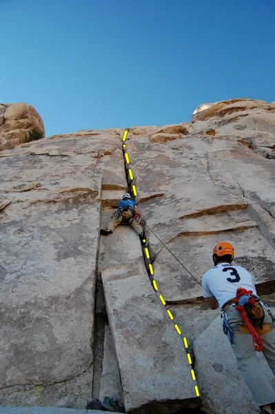 Rock Climbing Photo: At the crux of White Lightning
