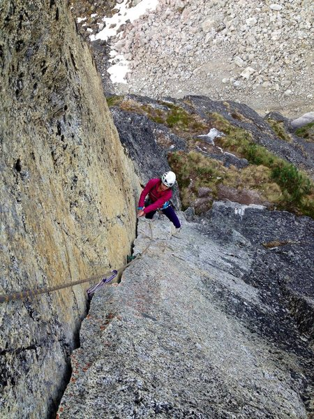 Adrienne Kentner on the excellent 5.9+ 4th pitch corner