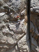 Rock Climbing Photo: Corrina at the first crux.
