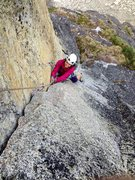 Rock Climbing Photo: Adrienne Kentner on the 4th pitch of Toto