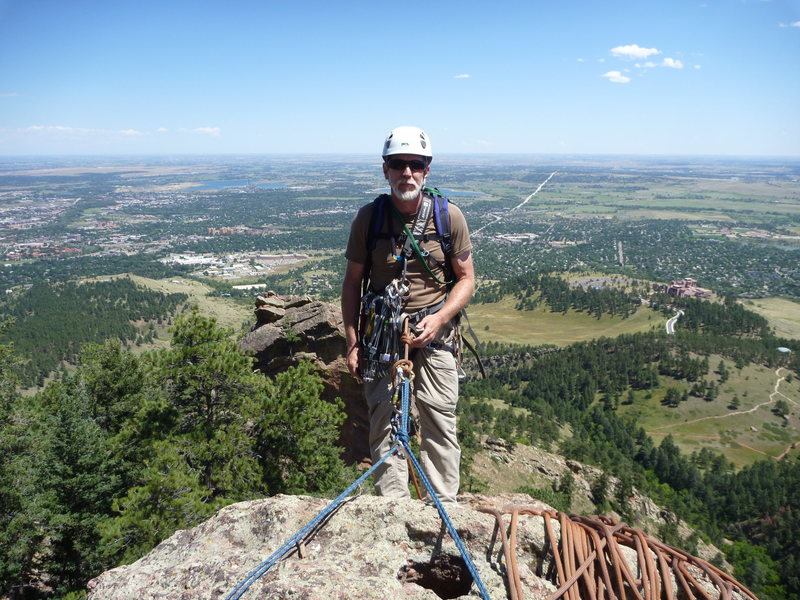 The top of something in the Flatirons.