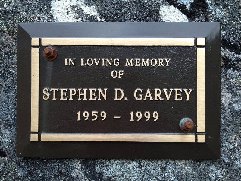 Steve Garvey Memorial Plaque at the base of Toto