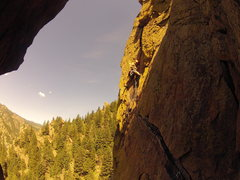 Rock Climbing Photo: Leading P4.